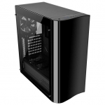 Кейс, Thermaltake, View 22 TG (CA-1J3-00M1WN-00), ATX/Micro ATX, USB23.0, HD-Audio+Mic, Контроллер , Кулер 12см, Кулер 12см LED, Без Б/П, Чёрный