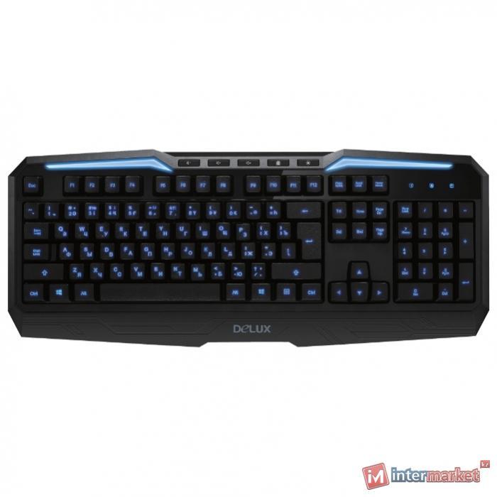 Клавиатура Delux DLK-9025UB, Black, USB