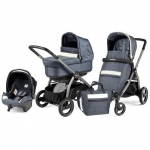 Коляска 3в1 Peg-Perego Book S Titania Pop Up Modular Lux Mirage