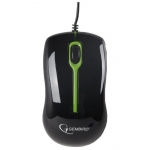 Мышь Gembird MUS-U-004G USB, (black green)