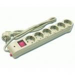 Сетевой фильтр Defender DFS-603, 6 розеток, 3м, Gray