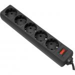 Сетевой фильтр Defender ES 1,8 метра, 5 розеток, черный