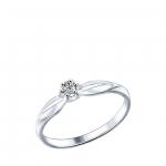 Кольцо Sokolov 89010017-16,5, серебро